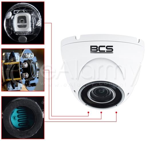 4 systemowa zewnętrzna kamera kopułowa 2MPx z WDR i promiennikiem podczerwieni