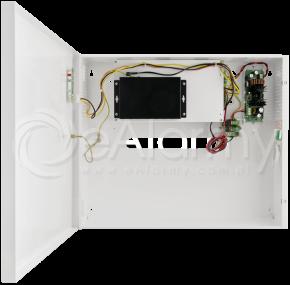 S64-B17 6-portowy switch PoE dla 4 kamer IP, 4x PoE + 2x UPLINK, metalowa obudowa, podtrzymanie bateryjne PULSAR
