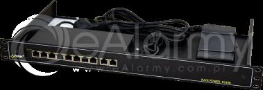RS108 10-portowy switch PoE dla 8 kamer IP, obudowa RACK PULSAR