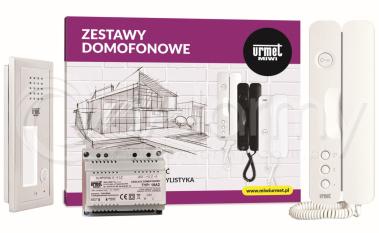 6025/401 Zestaw domofonowy, 1 przycisk wywołania, podtynkowy URMET