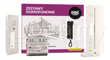 6025/401-RF Zestaw domofonowy, 1 przycisk wywołania + czytnik zbliżeniowy RFID, podtynkowy Urmet