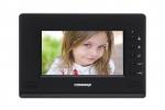 """CDV-70AR3 BLACK Monitor kolorowy 7"""", doświetlenie LED, dodatkowe sterowanie bramy COMMAX"""