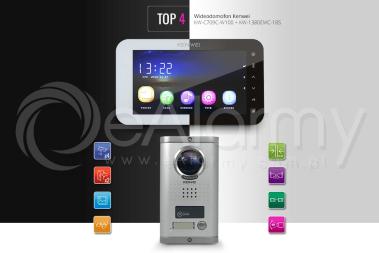 Zestaw TOP4: monitor KW-C709C-W100_B + kamera KW-1380EMC-1BS wideodomofon KENWEI