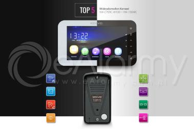 Zestaw TOP5: monitor KW-C709C-W100_B + kamera KW-136MC wideodomofon KENWEI