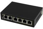 SG64 6-portowy switch PoE dla 4 kamer IP, 4x PoE + 2x UPLINK Pulsar