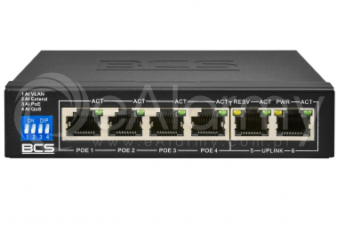BCS-B-SP0402 Switch PoE BCS BASIC 4x PoE, 2x RJ45