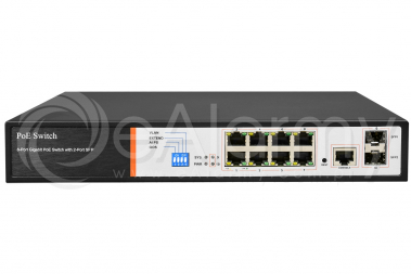 BCS-B-SP08-2SFP-M Switch PoE BCS BASIC 8x PoE, 2x SFP