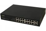 S116 18-portowy switch PoE, 16xPoE, 2xUPLINK PULSAR
