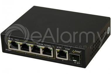 SFG64F1 6-portowy switch PoE, 4xPoE, 1xSFP, 1xUPLINK PULSAR