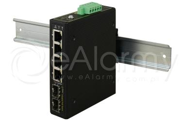 ISFG64 6-portowy switch PoE przemysłowy, 4xPoE PULSAR