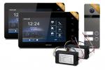 Zestaw wideodomofonowy HD 7 cali, dwurodzinny, czarny NEXWEI