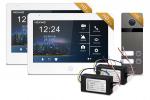 Zestaw wideodomofonowy HD 10 cali, dwurodzinny NEXWEI