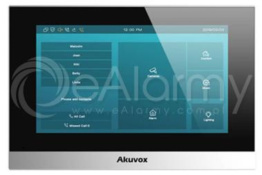 "C313W czarny Monitor wideodomofonu IP, 7"" AKUVOX"