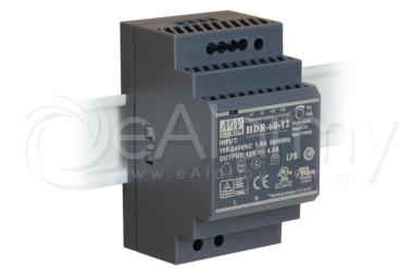HDR-60-12 MEAN WELL Zasilacz 12V / 60W / 4.5A na szynę DIN