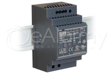 HDR-60-15 MEAN WELL Zasilacz 15V / 60W / 4A na szynę DIN