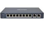 DS-3E0310P-E/M Switch PoE HIKVISION, 8x PoE, 2xLAN