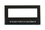 Szybka do wyświetlacza LCD w panelach Optima 255 ELFON