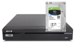 BCS-L-NVR0801-4KE Rejestrator IP 8Mpx BCS 8-kanałowy + dysk 2TB