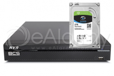 Rejestrator BCS-NVR0401X5ME-II wraz z HDD 1TB