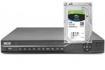 BCS-NVR08025ME-P-II Rejestrator IP 8Mpx BCS 8-kanałowy, PoE + dysk 2TB