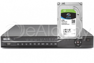 Monitoring IP, rejestrator BCS-NVR16025ME-II wraz z HDD 2TB