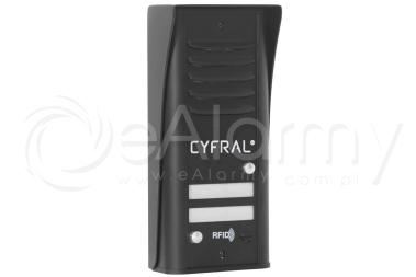 COSMO R2 CYFRAL Panel z czytnikiem RFID dla 2 lokatorów, czarny