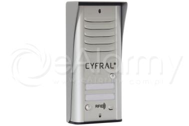 COSMO R2 CYFRAL Panel z czytnikiem RFID dla 2 lokatorów, srebrny