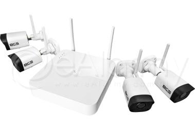 BCS-P-WIFI4x2M-KIT Zestaw monitoringu Wi-Fi 2 Mpx BCS POINT