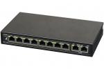 S108-90W 10-portowy switch PoE, 8xPoE, 2xUPLINK PULSAR