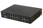 SF108-90W 10-portowy switch PoE 8xPoE 2xSFP 2xUPLINK PULSAR