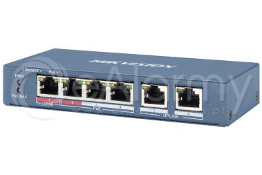 DS-3E0106HP-E Switch PoE HIKVISION, 4x PoE, 2xLAN