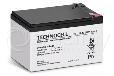 Akumulator AGM 12V 12Ah TCL12-12 TECHNOCELL
