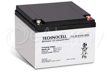Akumulator AGM 12V 28Ah TCL28-12 TECHNOCELL