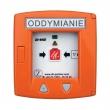 RT 45-LT Przycisk oddymiania w obudowie alumiowej w kolorze pomarańczowym z przyciskiem do wentylacji D+H