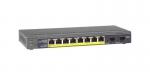 GS110TP-200EUS Przełącznik Smart ProSafe 10x Gigabit, 8x PoE + 2x SFP Netgear
