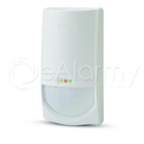 CDX-DAM Czujka dualna, wewnętrzna, PIR + MW, antymasking, zasięg 15x15m OPTEX
