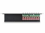 LHD-8R-PRO-FPS Zabezpieczenie przeciwprzepięciowe z dystrybutorem zasilania, 8 kanałów Video, koncentryk i skrętka EWIMAR