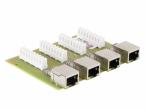 PTU-4-ECO/PoE Moduł zabezpieczenia przeciwprzepięciowego, 4 kanały, funkcja PoE EWIMAR
