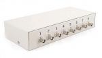 LHD-8-PRO-FPS Zabezpieczenie przeciwprzepięciowe z dystrybutorem zasilania, 8 kanałów Video, koncentryk i skrętka EWIMAR