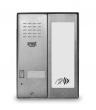 5025/1D-RF Panel rozmówny z czytnikiem zbliżeniowym i modułem informacyjnym, 1 przycisk wywołania URMET