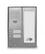 5025/2D-RF Panel rozmówny z czytnikiem zbliżeniowym i modułem informacyjnym, 2 przyciski wywołania URMET
