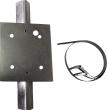 SIP-LRP-PB Uniwersalny uchwyt do montażu SIP/LRP na słupku, średnica 48 mm OPTEX