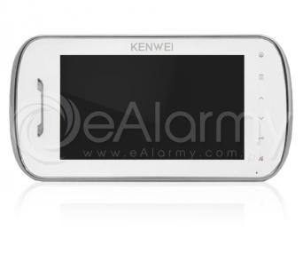 KW-E703FC-W Monitor głośnomówiący 7 cali, biały, wideodomofon KENWEI