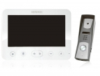 Zestaw: monitor natynkowy KW-E706FC/W200-W Kenwei + kamera LA-409GA Lanz