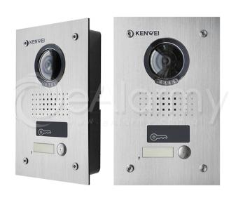 KW-1370EMC-1B-600 Panel z kamerą, 1 przycisk wywołania, czytnik breloków KENWEI