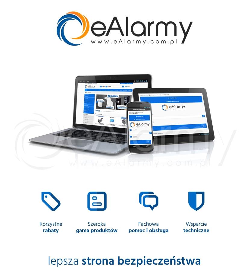 eAlarmy.com.pl - sklep internetowy. Sprzedaż systemów zabezpieczeń, alarmowych, monitoringu CCTV, IP, kontroli dostępu, oddymiania, domofonów, wideodomofonów. Współpraca z firmami instalatorskimi, dogodne warunki handlowe oraz rabaty.