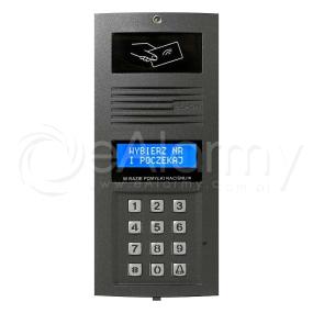 OP-SL255R G Optima Panel cyfrowy SLAVE z czytnikiem RFID, do systemu wielowejściowego (grafit) ELFON