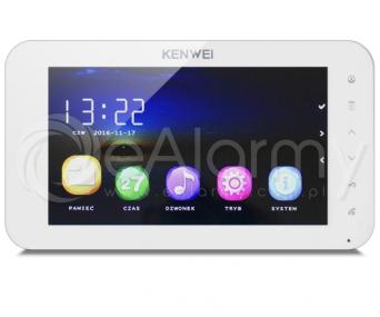 KW-C709C-W Monitor głośnomówiący 7 cali, biały, wideodomofon KENWEI
