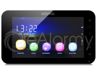 KW-C709C-B Monitor głośnomówiący 7 cali, czarny, wideodomofon KENWEI