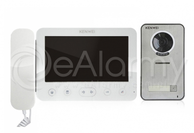 Zestaw: monitor natynkowy KW-E705FC/W100-W + kamera KW-S201C-1B wideodomofon KENWEI